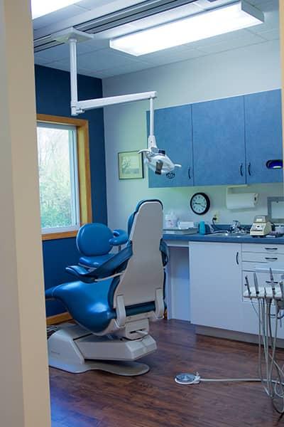 Hornfeck Family Dentistry exam room